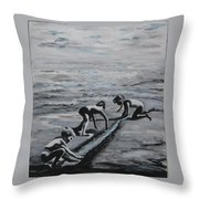 Harnessing The Ocean Throw Pillow