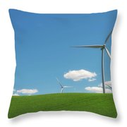 Harnessing Wind Throw Pillow