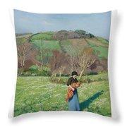 Harold Harvey 1874-1941 British Early Spring Throw Pillow