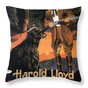 Harold Lloyd In Back To The Woods 1919 Throw Pillow