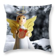 Harp The Herald Angels Sing Throw Pillow