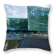Harpa Concert Hall - Iceland Throw Pillow