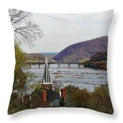 Harpers Ferry - Shenandoah Meets The Potomac Throw Pillow