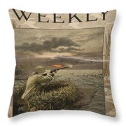 Harper's Weekly. Sportsman's Number Throw Pillow
