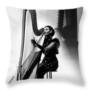Harpist, 1935 Throw Pillow