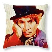 Harpo Marx, Hollywood Legend Throw Pillow