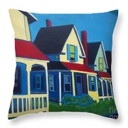 Harpswell Cottages Throw Pillow