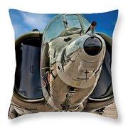 Harrier Ground Attack Jet Airplane Throw Pillow