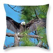 Harriet As I Open Wings Magics Happen Throw Pillow