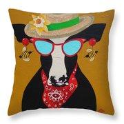 Harriet Honeybee Holstein Throw Pillow