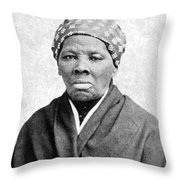 Harriet Tubman (1823-1913) Throw Pillow by Granger
