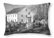Harrington Meetinghouse -bristol Me Usa Throw Pillow by Erin Paul Donovan