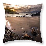 Harris Beach Sunset Throw Pillow