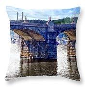 Harrisburg Pa - Market Street Bridge Throw Pillow
