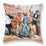 Harrison Cartoon, 1888 Throw Pillow
