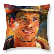 Harrison Ford Indiana Jones Portrait 3 Throw Pillow