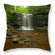 Harrison Wrights Falls In The Forest Throw Pillow