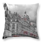 Harrods Of Knightsbridge Bw Hdr Throw Pillow