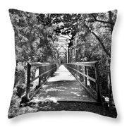Harry Easterling Bridge Peak Sc Black And White Throw Pillow