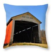 Harry Evans Covered Bridge Throw Pillow