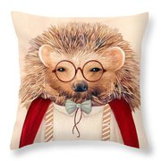 Harry Hedgehog Throw Pillow