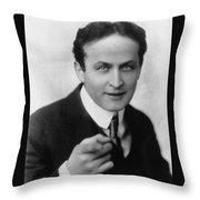Harry Houdini Magician Throw Pillow