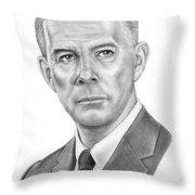 Harry Morgan Throw Pillow by Murphy Elliott