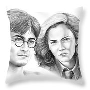Harry Potter And Hermione Throw Pillow