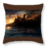 Harry Potter And The Deathly Hallows Part I 2010  Throw Pillow