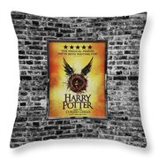 Harry Potter London Theatre Poster Throw Pillow
