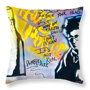 Harry Potter With Dumbledore Throw Pillow by Tony B Conscious