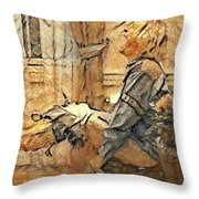 Harry Situation Throw Pillow