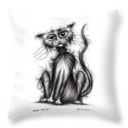 Harry The Cat Throw Pillow