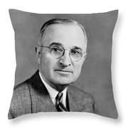 Harry Truman - 33rd President Of The United States Throw Pillow