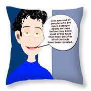 Harry...amused Throw Pillow
