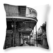 Harry's Corner In Black And White Throw Pillow