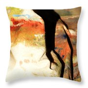 Harsh Shadows On Drop Cloth Throw Pillow