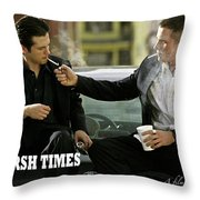 Harsh Times, Starring Christian Bale, Freddy Rodriguez And Eva Longoria Throw Pillow