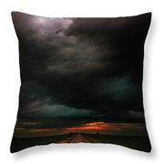 Harsh Weather Throw Pillow