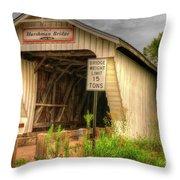 Harshman Covered Bridge Throw Pillow