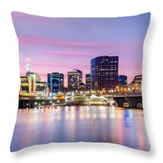 Hartford Purple Twilight Throw Pillow
