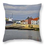 Hartlepool Harbour Evening Throw Pillow
