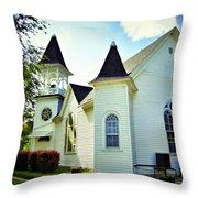 Hartsburg Baptist Church Throw Pillow