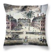 Harvard College, C1725 Throw Pillow by Granger