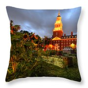 Harvard Community Garden Cambridge Ma Throw Pillow