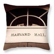Harvard Hall #2 Throw Pillow