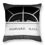 Harvard Hall Throw Pillow