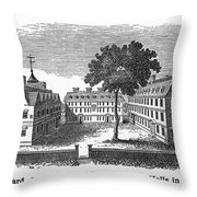 Harvard University, 1755 Throw Pillow