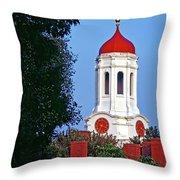 Harvard's Dunster House Throw Pillow