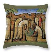 harvest, by Alfredo Ramos Martinez Throw Pillow